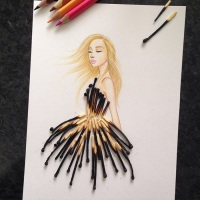 Armenian Illustrator Completes His Cut-Out Dresses With Everyday Objects