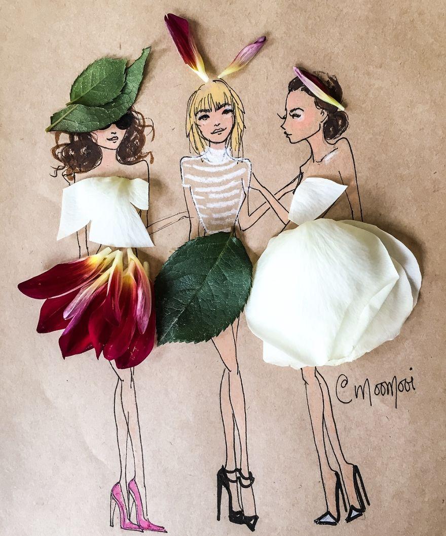 moomooi-someflowergirls-fashion-illustration-with-flowers-veggies-everyday-stuff-5892eca316748__880