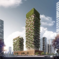 Stefano Boeri proposes vertical forest to clean Nanjian's air ( China)