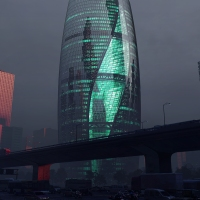 Zaha Hadid zoho tower  near completion in Beijing