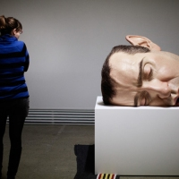 Ron Mueck 's detailing in a series of hyper-realistic sculptures