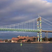 Gothenburg gets coloured with lego bridge by christo guelov