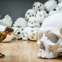 100 Skulls by RON MUECK on display for Triennial