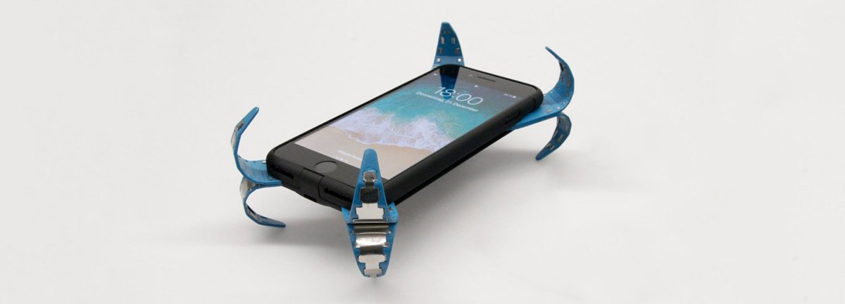 German engineer design concept airbag for cell phone protection