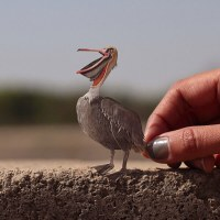 Miniature avian adventures by design concept NVillustration