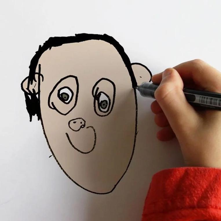 things-i-have-drawn-recreated-kids-photos-photoshop-designboom-07
