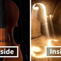 Romian artist caputures the interior of the violin in surreal ways.