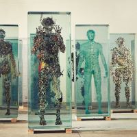 Dustin Yellin stunning visulas under layers of Bajillian glass