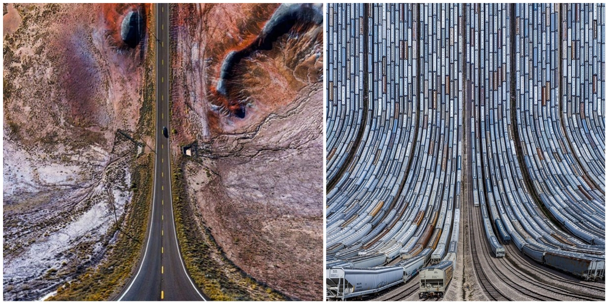 Turkish photographer wraps landscapes with inception like drone photos