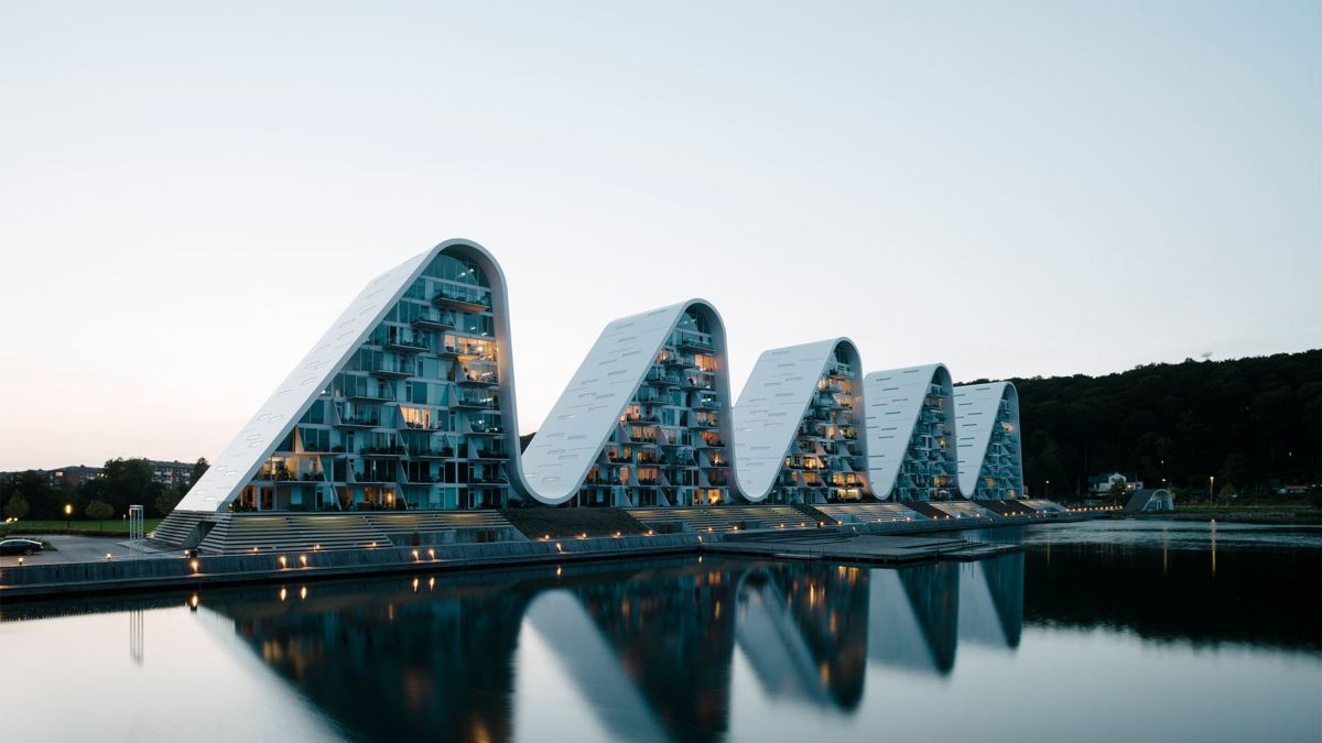 Stunning images of the spectacular Wave building just completed in Demark