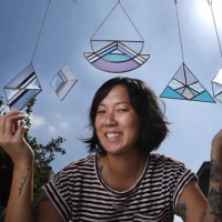 Janel Foo quites her job to make Inspiring stained glass wares.
