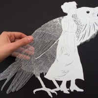 Maude White crafts incredible detailed single thread paper art