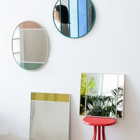 Stained mirrors by French- Italian designer Inga Sempe