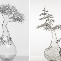 Surreal glass sculptures by Simone Crestani