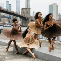 Origami tutus and ballet in public spaces by montreal artists